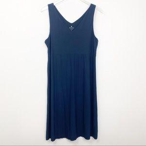 Athleta Santorini Navy V-neck Dress